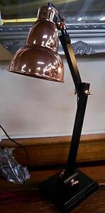 New Black Timber Table Lamp Copper Metal Gourd Shade Desk Lamps Melbourne CBD Melbourne City Preview