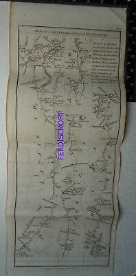 1776 Taylor & Skinner Strip Map, Road from Edinburgh to Ayr, Glasgow, Greenock