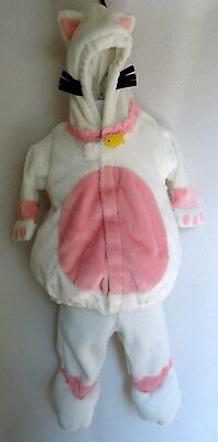 Old Navy 0 3 6 Months Kitty Cat Halloween Costume Baby Fleece Two Piece White