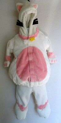 Old Navy 0 3 6 Months Kitty Cat Halloween Costume Baby Fleece Two Piece White  (3-6 Month Old Baby Halloween Costumes)