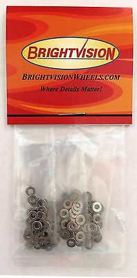 100 Stainless Steel Washers to fit 1-72 Screw-In Rivets For Customs Restorations