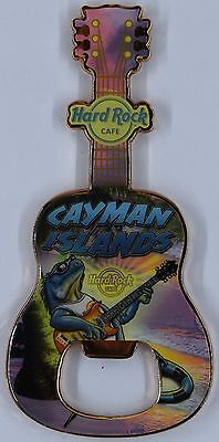 NEW Hard Rock Cafe CAYMAN ISLANDS MAGNETIC GUITAR BOTTLE OPENER-Free Ship Magnet