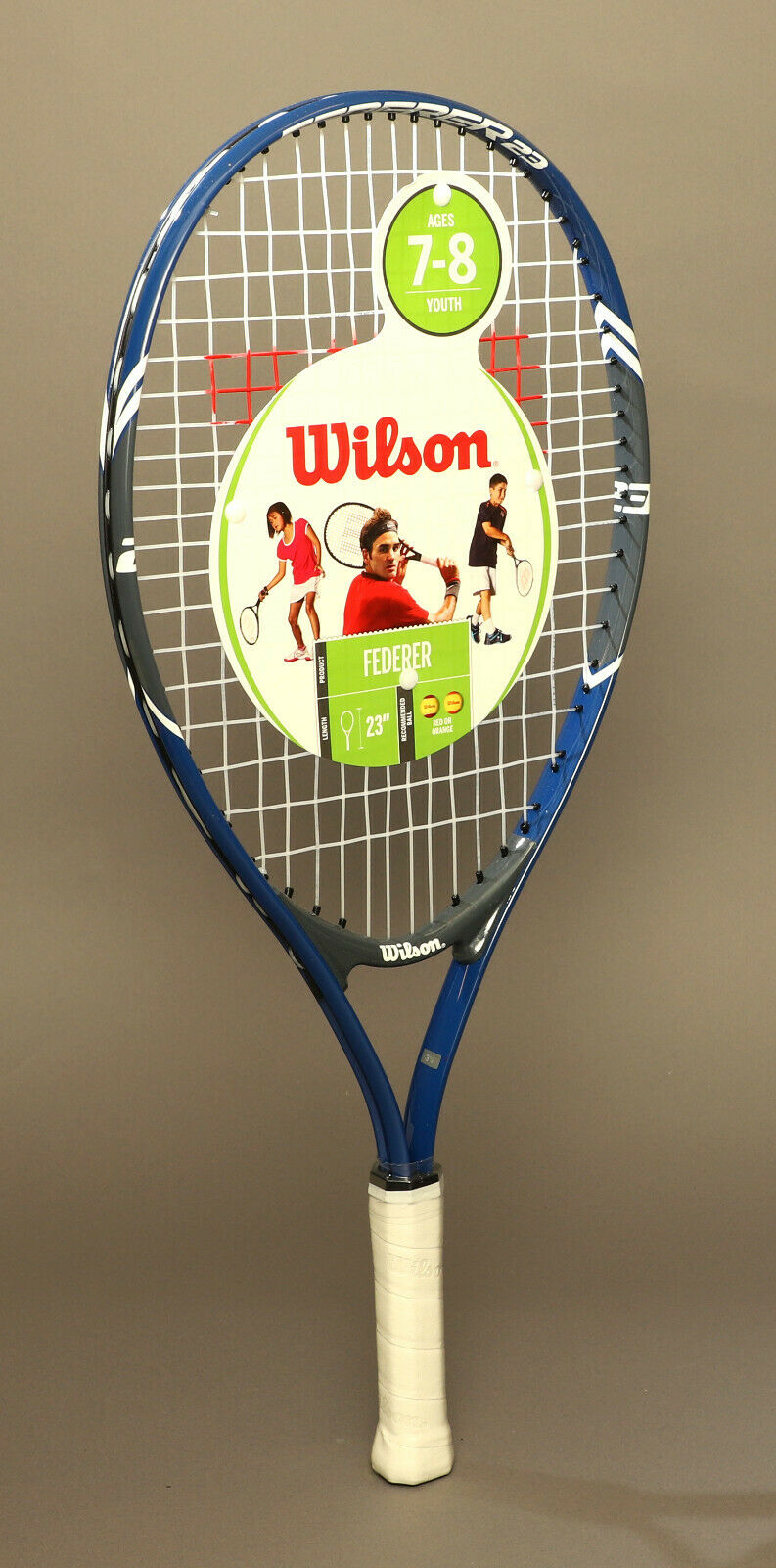 Wilson Federer 23 Inch Tennis Racquet For Age 7-8 New