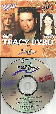 Tracy Byrd Andy Griggs Sara Evans Rare Snack Company Promo Cd 2000 Usa Mint  Tra
