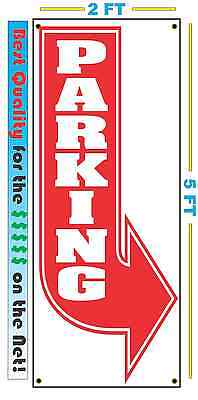 Vertical Right Parking Arrow Banner Sign 100 All Weather New