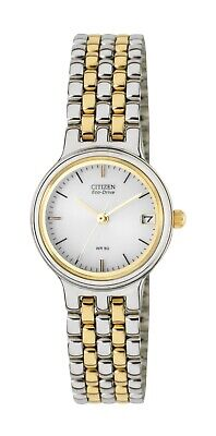 Citizen Eco-Drive Women's EW1214-58A White Dial Two-Tone Band 28mm Watch