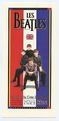 The Beatles Handbill Live a la Cote D' Azure 1965 Jun 30 Commemorative