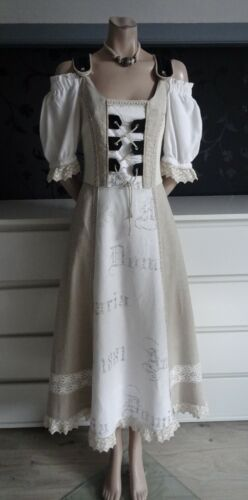 Trachten German Austrian Long Modern Linen Dress 8