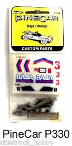 PineCar-P330-Pine-Wood-Derby-Baja-Champ-Parts-Decals