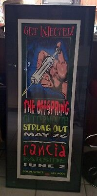 Vintage Rancid signed poster Get Injected The offspring Farside Whisky A Go Go