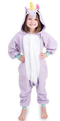 Kids Animal Unicorn Pajama Body Suit Soft & Comfortable with Pockets (Size 6-7) (Unicorn Suit)