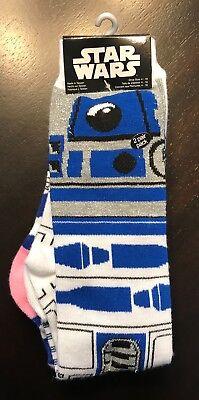Disney Parks Star Wars R2d2 2 Pack Socks  Brand New