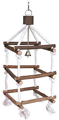 Vogelschaukel Turm mit Seilen und Glocke 51 cm