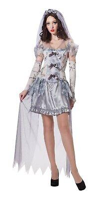 Ladies Fancy Dress Ghost Bride Costume Halloween Horror Zombie Corpse - 123 Halloween Costumes