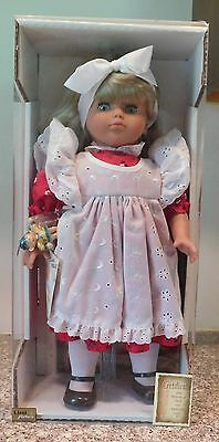 "Vintage 1992 16"" Super Soft German Lissi Chubby Blonde Toddler Girl Doll"
