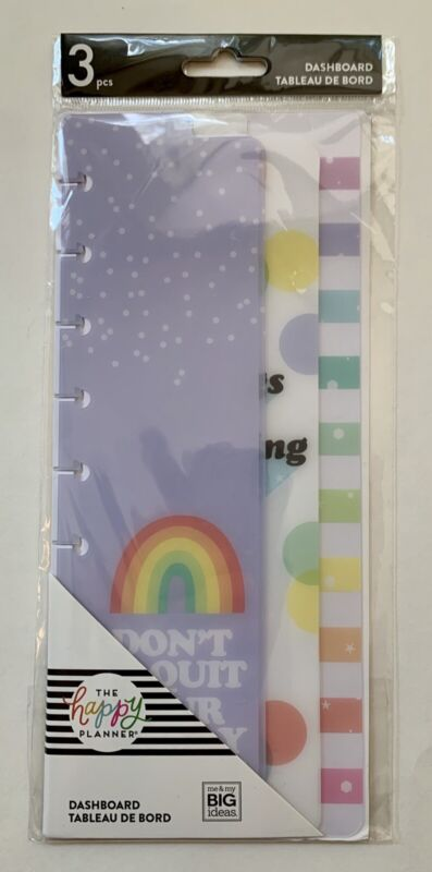 The Happy Planner Skinny Classic DASHBOARDS - RAINBOW - 3 pcs