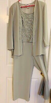 Patra Brand Mint Green Lace Body Pant Suit Size 12