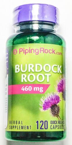 120 Capsules 460mg Burdock Root Arctium Lappa Health Supplement Pill