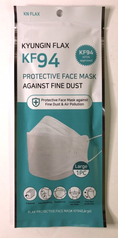 10 Pack - KN FLAX KF94 Face Mask Protective Covering - Made in Korea - FREE SHIP
