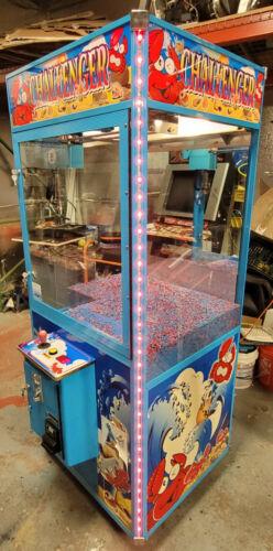 CHALLENGER Claw Crane Prize Redemption Full Size Arcade Machine - WORKING! LED
