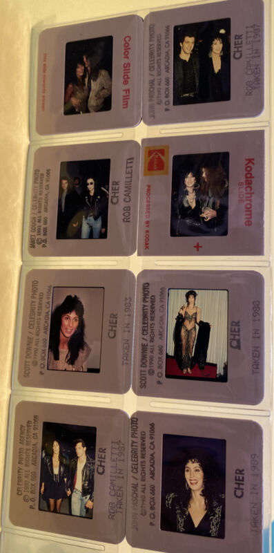 Cher Paparazzi Color Photograph Photo Slides 8 Different from the 1980s & 1990s