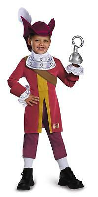 Captain Hook Pirate Peter Pan Disney Deluxe Costume Small 4-6 - Deluxe Captain Hook Costume