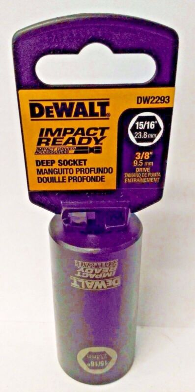 "Dewalt DW2293 15/16"" Impact Ready 6 Point Deep Socket 3/8"" Drive"