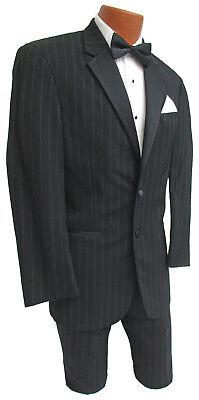 Mens Tuxedo Costume (Mens Black Ralph Lauren Striped Tuxedo & Pants Halloween Costume Gangster)