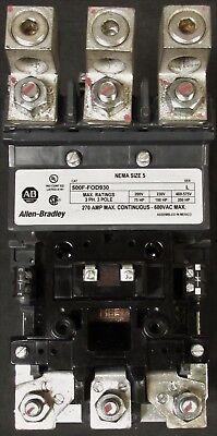 Allen Bradley 500f Fod930 110 120v Size 5 Contactor 270 Amp