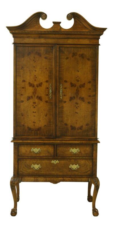51559EC: HEKMAN Walnut & Mahogany Clawfoot TV Armoire Cabinet