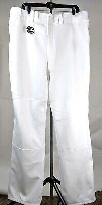 New Mizuno Global Elite Baseball Pants ADULT XXL 350306 White Open Hem Bottom