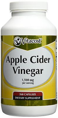 Vitacost Apple Cider Vinegar    1500 Mg Per Serving   360 Capsules