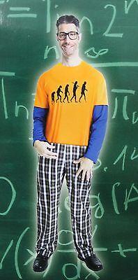 Nerd, Kostüm Geek Halloween Big Bang Gescheit Evolution Wissenschaft Sheldon Neu
