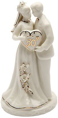 Cosmos Gifts 30715 Ceramic 50th Anniversary Couple Figurine, 4-3/4-Inch ()