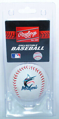 Miami Marlins Rawlings Baseball in Presentation Clamshell (New Logo)