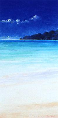 """DUNCAN PALMAR """"Hideaway"""" sea cliffs SIGNED! SIZE:33cm x 19cm OUT-OF-PRINT LE"""