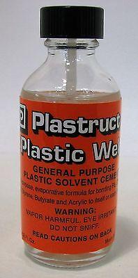 Plastruct Plastic Weld w/applicator 2oz, Plastic Cement