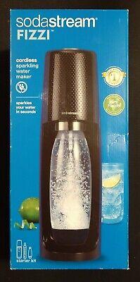 SodaStream Fizzi Cordless Sparkling Water Maker Starter Kit-Black NEW!