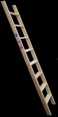 Hochbettleiter Regalleiter Holz 12 Stufen für senkr. Höhe von 2,76 m