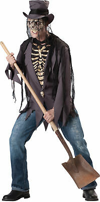 Grave Robber Adult Mens Costume Scary Skeleton Haunted House Zombie Halloween](Mens Robber Halloween Costume)