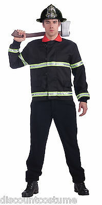 ADULT FIREMAN COAT FIREFIGHTER JACKET ADULT HALLOWEEN COSTUME ACCESSORY SIZE STD