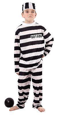 7-9 J HÄFTLING Gefangener Gefängnis Halloween Kinder Kinderkostüm Kostüm b 86786