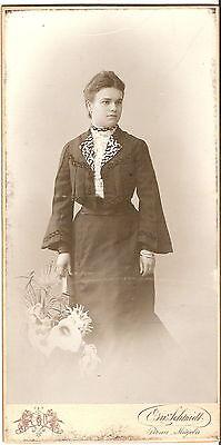 Großes CAB photo Feine Dame - Pirna Mügeln 1900er