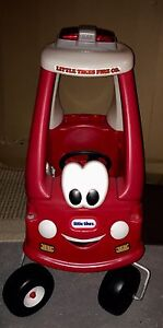 """""""Little Tikes"""" coupe manual push fire truck/car"""