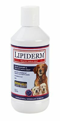 Lipiderm Liquid Skin and Coat Supplement for Dogs, 8 oz