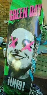 Green day collectibles skateboard