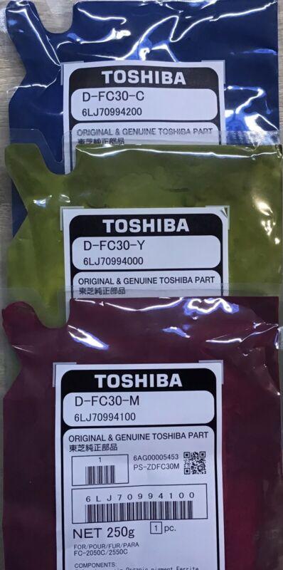 TOSHIBA COLOR DEVELOPERS (3) Y/M & C E-STUDIO 2000AC/2500AC/2050/2051/2550/2551C