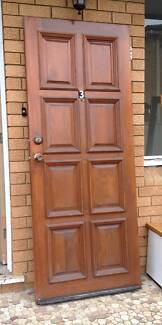 Solid Timber Front Door  81cm wide x 205cm high x 4cm thick  Has Ramsgate Beach Rockdale Area Preview