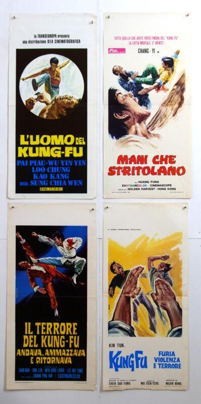 lot 4 Italian playbills-DEEP THRUST-KUNG FU COPS-MARTIAL ARTS KUNG FU-E3-22