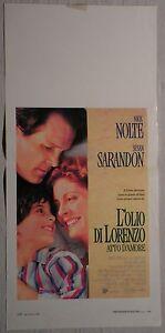 Locandina L'OLIO DI LORENZO ATTO D'AMORE 1°ED.IT.1993 NICK NOLTE, SUSAN SARANDON - Italia - L'oggetto può essere restituito - Italia